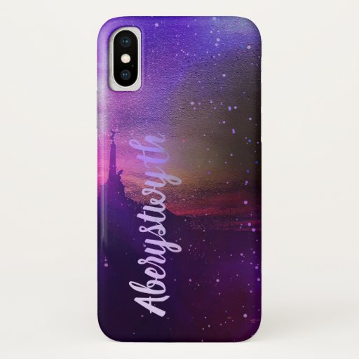 Sunset over the sea in Aberystwyth iPhone XS Case