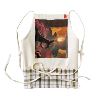 Sunset over the sea zazzle HEART apron