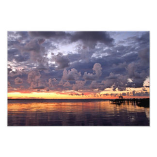 Sunset Over the Sound Photo Print