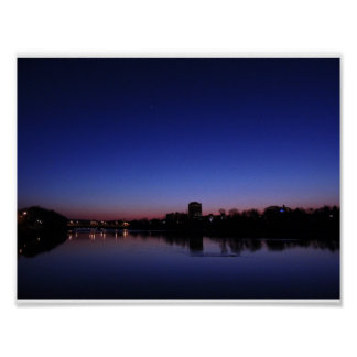 Sunset over the Susquehanna River Poster