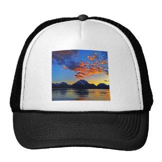 Sunset over the Tetons Mesh Hats