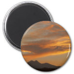 Sunset  over the Twin Peaks Refrigerator Magnet