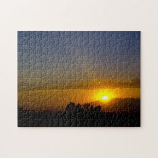 Sunset Over the Valley Jigsaw Puzzle