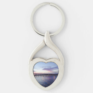 Sunset Over The Water Gifts Keychain
