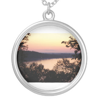 Sunset over the water necklace