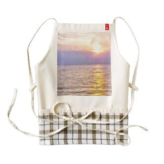 Sunset over the water zazzle HEART apron