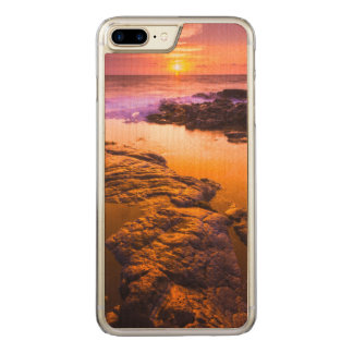 Sunset over tide pools, Hawaii Carved iPhone 8 Plus/7 Plus Case