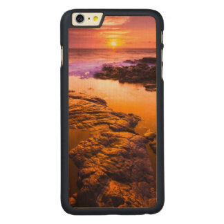 Sunset over tide pools, Hawaii Carved Maple iPhone 6 Plus Case