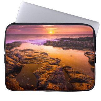 Sunset over tide pools, Hawaii Computer Sleeve