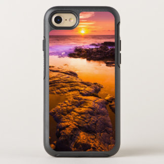Sunset over tide pools, Hawaii OtterBox Symmetry iPhone 8/7 Case