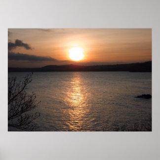 Sunset over Torquay, Devon Poster