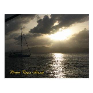 Sunset over Tortola (title) Postcard