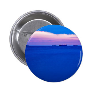 Sunset over Trieste Bay 6 Cm Round Badge
