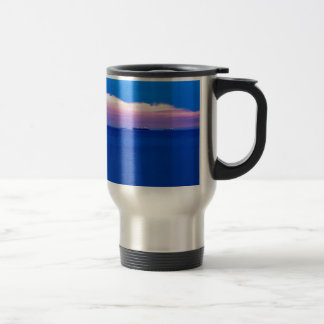 Sunset over Trieste Bay Travel Mug