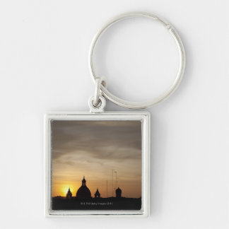 Sunset over Vatican rooftops, Rome, Italy Keychain
