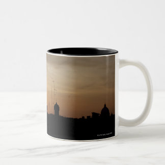 Sunset over Vatican rooftops, Rome, Italy Two-Tone Coffee Mug