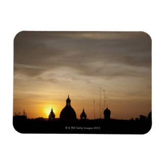 Sunset over Vatican rooftops, Rome, Italy Rectangular Photo Magnet