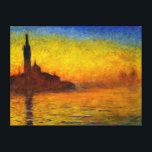 "Sunset over Venice by Claude Monet Canvas Print<br><div class=""desc"">Sunset over Venice by Claude Monet Canvas Print</div>"