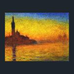 "Sunset over Venice by Claude Monet Canvas Print<br><div class=""desc"">Sunset over Venice by Claude Monet Canvas Print</div>"