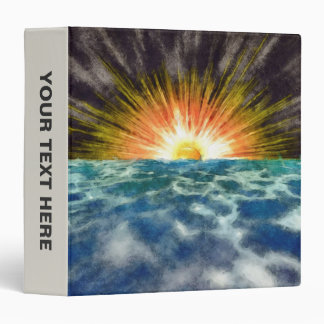 Sunset Over Water 3 Ring Binder