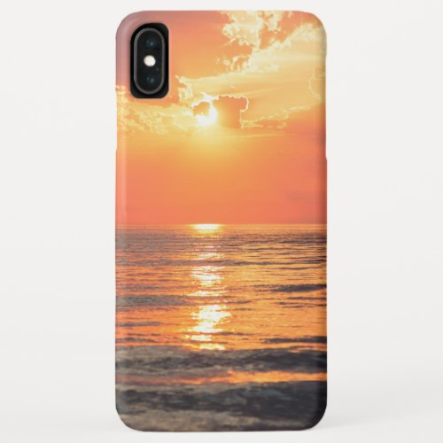 sunset over water Phone Case