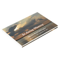 Sunset over Water Funeral or Memorial Guest Book