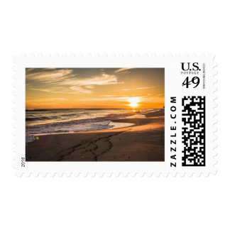 Sunset Over Water Postage