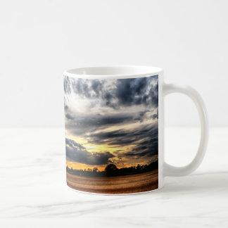 Sunset Over Wheat Fields Skyscape Coffee Mug