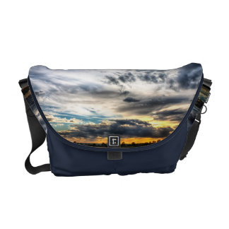 Sunset Over Wheat Fields Skyscape Courier Bag
