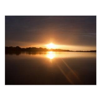 Sunset over Zambezi River - Postcard