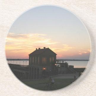 Sunset Overholser Beverage Coaster