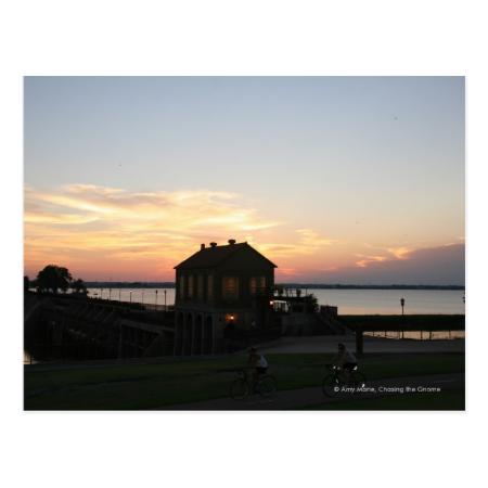 Sunset Overholser Post Card