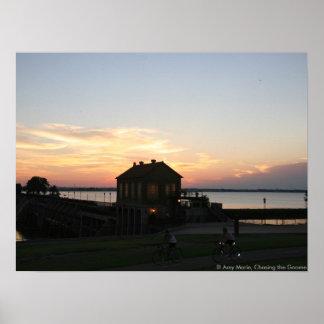 Sunset Overholser Poster