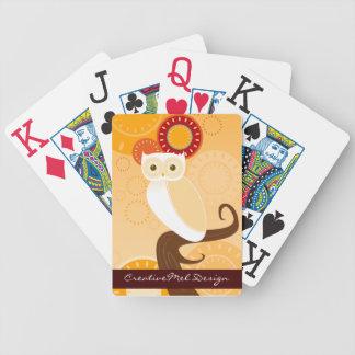 Sunset Owl OJ Custom Playing Cards