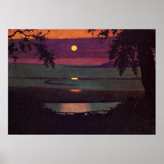 Sunset, painting by Felix Vallotton Print