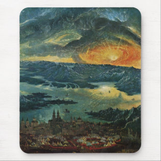 Sunset painting mouse pad