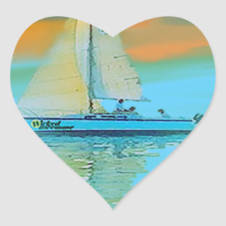 sunset painting smooth sailing 11 14.png heart sticker