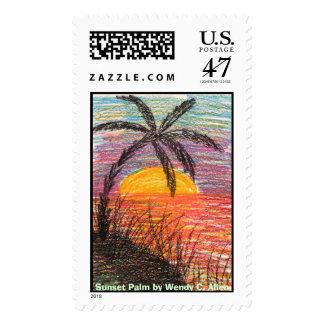 Sunset Palm by Wendy C. Allen Stamp