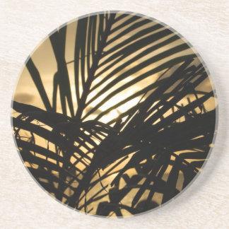 Sunset Palm Sandstone Coaster
