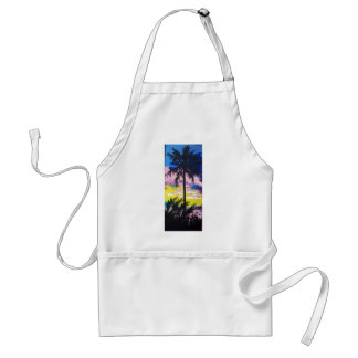 SUNSET PALM TREE ADULT APRON