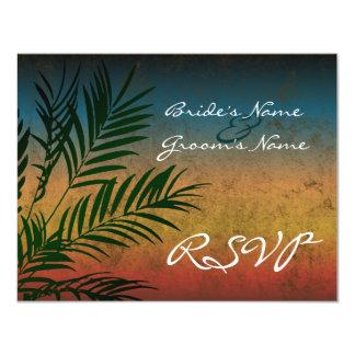 Sunset Palm Tree Branch RSVP Cards