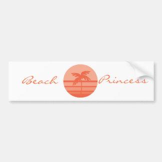 Sunset Palm Tree Bumper Stickers