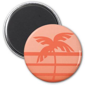 Sunset Palm Tree Fridge Magnets