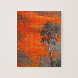Sunset Palm Tree Top Puzzles