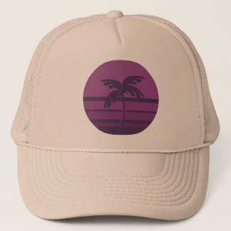 Sunset Palm Tree Trucker Hat