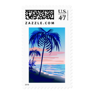 Sunset Palms Postage Stamps