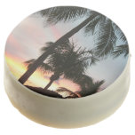 Sunset Palms Tropical Landscape Photography Chocolate Dipped Oreo