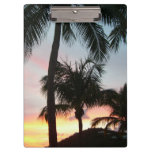 Sunset Palms Tropical Landscape Photography Clipboard