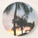 Sunset Palms Tropical Landscape Photography Coaster