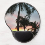 Sunset Palms Tropical Landscape Photography Gel Mouse Pad